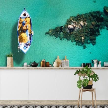 Διάσημη τυρκουάζ παραλία Ψαρού - Μύκονος, Κυκλάδες