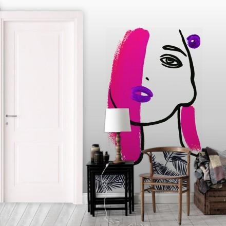 Γυναίκα ροζ πινελιά