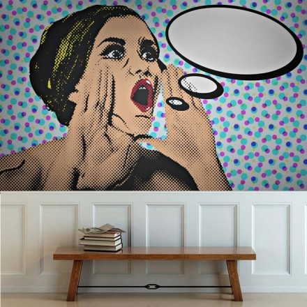 Pop art γυναίκα φωνάζει