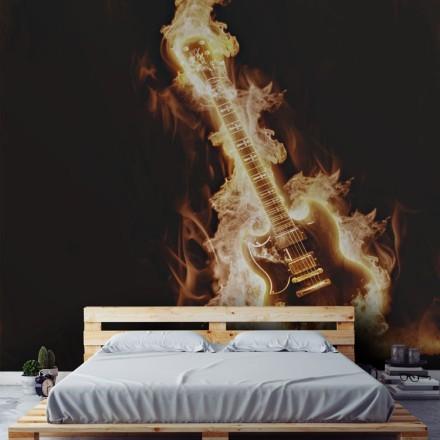 Ηλεκτρική κιθάρα στις φλόγες
