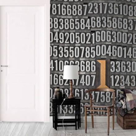 Ο αριθμός 1 - Ξύλινο τυπογραφικό στοιχείο