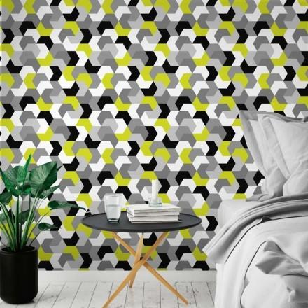 Σκανδιναβικό μοτίβο με κίτρινο