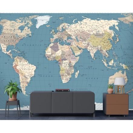 Ρετρό Παγκόσμιος Χάρτης