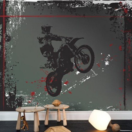 Motocross σε φόντο