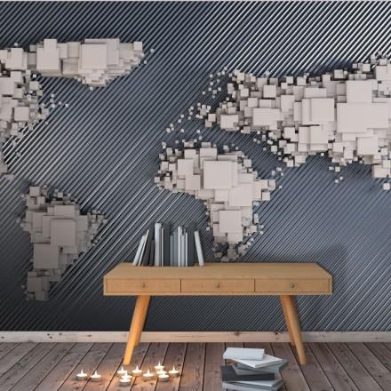 Παγκόσμιος χάρτης με κύβους