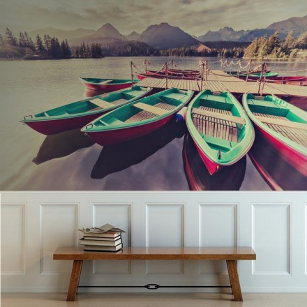 Tοπίο με βάρκες