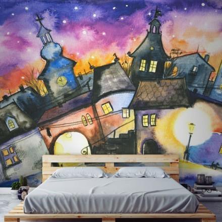 Μικρή πόλη τη νύχτα