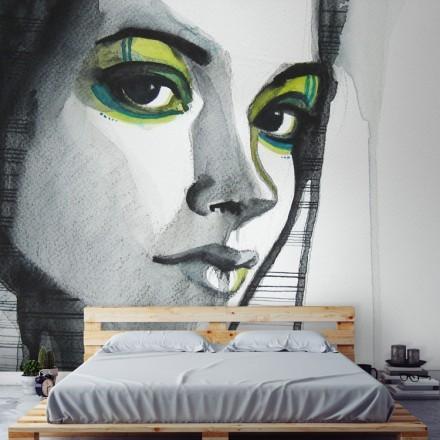 Εικονογραφημένο πορτρέτο κοπέλας