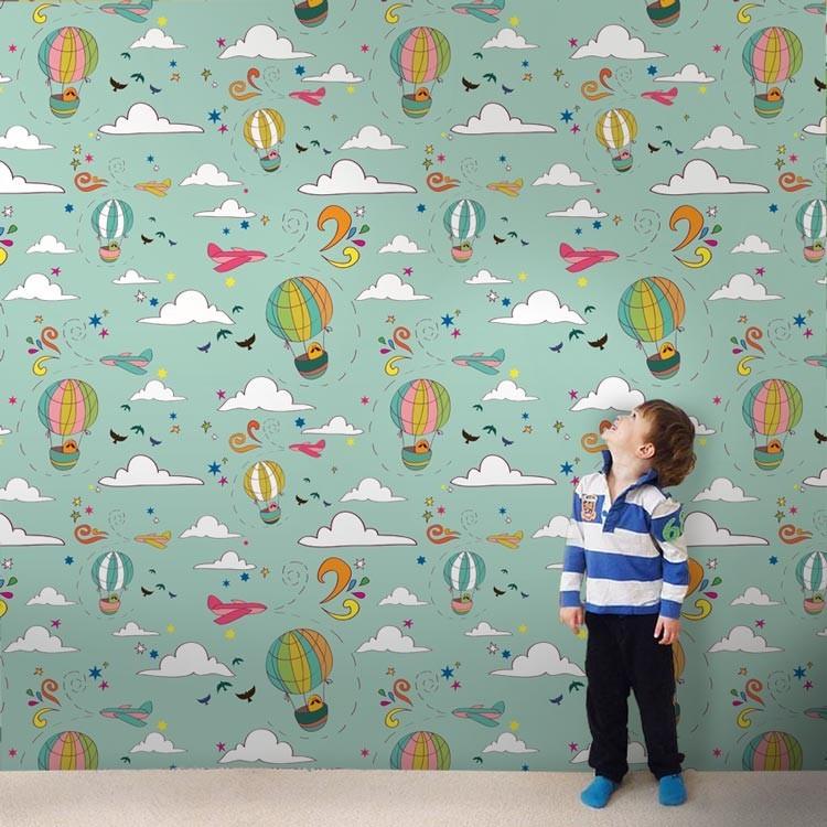 6f3d2cae2d2 Αερόστατα - Παιδικές ταπετσαρίες τοίχου για όμορφο παιδικό δωμάτιο ...