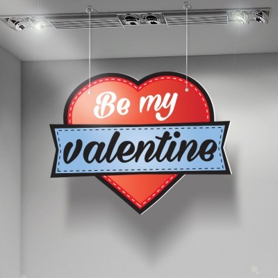 Be my Valentine, Αγίου Βαλεντίνου, Καρτολίνες κρεμαστές