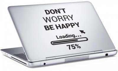 Don\'t worry be happy, Sticker, Αυτοκόλλητα Laptop
