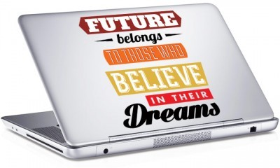 Future belongs..., Sticker, Αυτοκόλλητα Laptop
