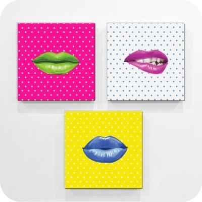 Χείλια, Διάφορα, Mini Set καμβάς