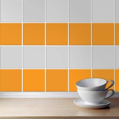 Light orange (8 τεμάχια), Μονόχρωμα - Πολύχρωμα, Αυτοκόλλητα πλακάκια