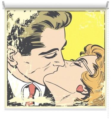 Ερωτικό Φιλί, Κόμικς, Ρολοκουρτίνες