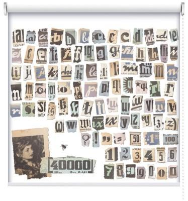 Ρετρό αλφάβητο, Vintage, Ρολοκουρτίνες