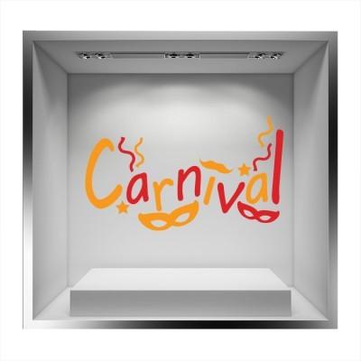 Carnival, μάσκες, Αποκριάτικα, Αυτοκόλλητα βιτρίνας