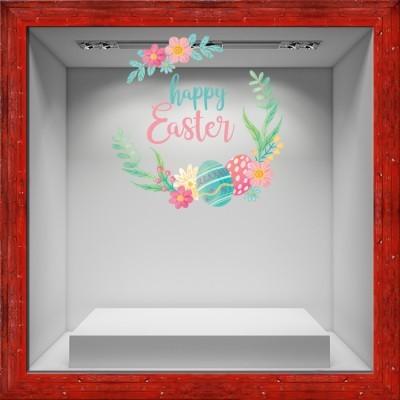 Happy Easter!, Πασχαλινά, Αυτοκόλλητα βιτρίνας