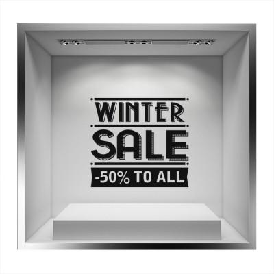 Winter sale -50% to all, Εκπτωτικά, Αυτοκόλλητα βιτρίνας