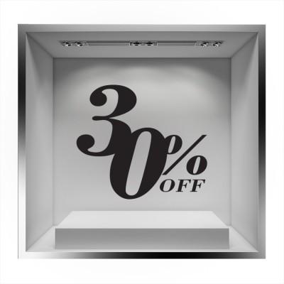 Sale 30% off, Εκπτωτικά, Αυτοκόλλητα βιτρίνας