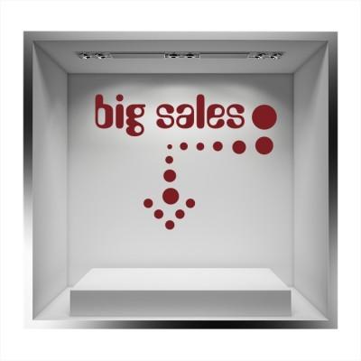 Big sales βελάκι, Εκπτωτικά, Αυτοκόλλητα βιτρίνας