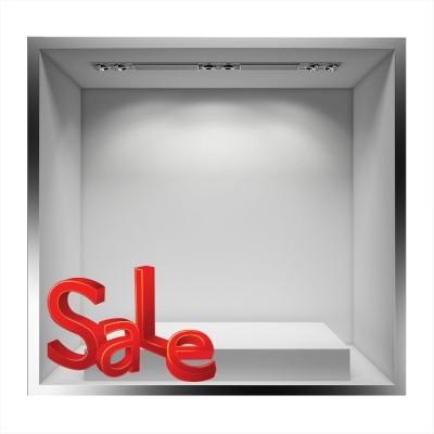 Sale 3D, Εκπτωτικά, Αυτοκόλλητα βιτρίνας