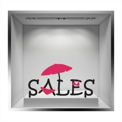 Sales ομπρέλα και μαγιό, Άνοιξη - Καλοκαίρι, Αυτοκόλλητα βιτρίνας