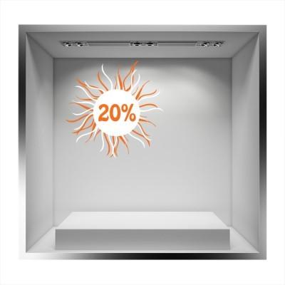 20%, Άνοιξη - Καλοκαίρι, Αυτοκόλλητα βιτρίνας