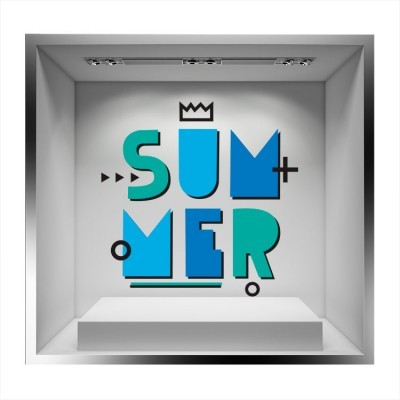 Summer χρώματα της θάλασσας, Άνοιξη - Καλοκαίρι, Αυτοκόλλητα βιτρίνας