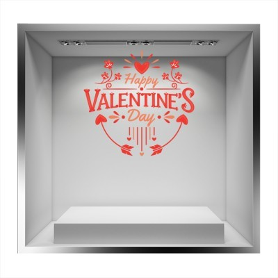 Happy Valentine\'s day!!!, Valentines Day, Αυτοκόλλητα βιτρίνας