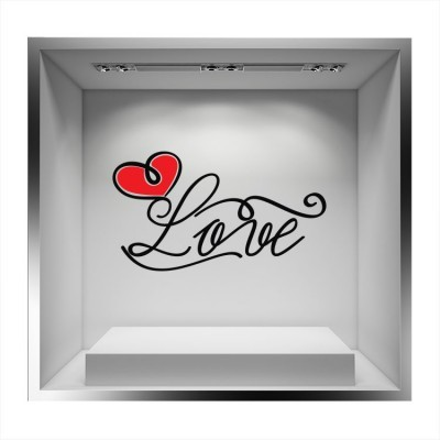 Love μαύρα γράμματα, Valentines Day, Αυτοκόλλητα βιτρίνας