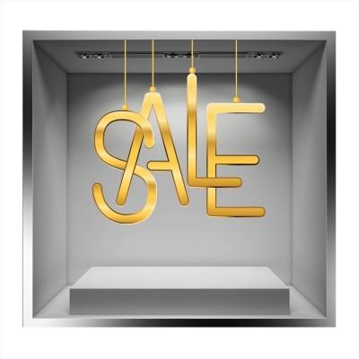 Sale Gold, Εκπτωτικά, Αυτοκόλλητα βιτρίνας