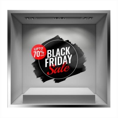 Black Friday Sale Paint, Εκπτωτικά, Αυτοκόλλητα βιτρίνας