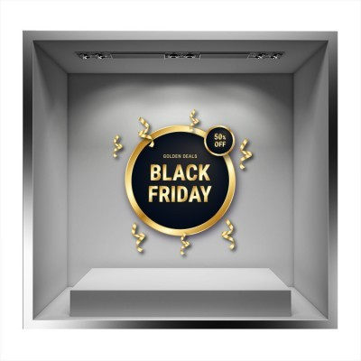 Black Friday Gold Deals, Εκπτωτικά, Αυτοκόλλητα βιτρίνας