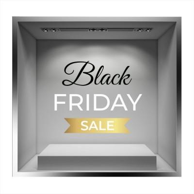 Black Friday Gold Sale, Εκπτωτικά, Αυτοκόλλητα βιτρίνας