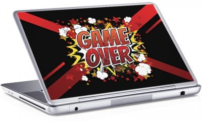 Game Over, Skins sticker, Αυτοκόλλητα Laptop