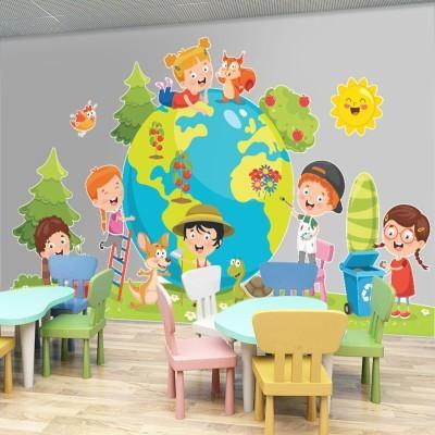 Υδρόγειος σφαίρα, Παιδικά, Αυτοκόλλητα τοίχου