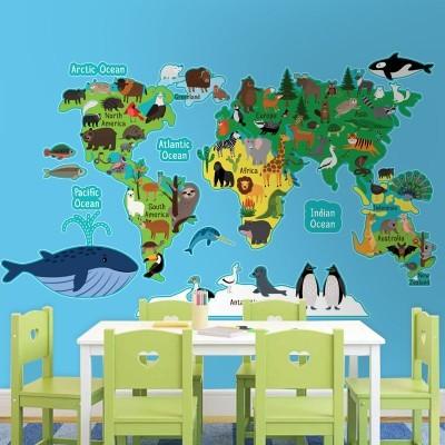 Ο χάρτης των ζώων, Παιδικά, Αυτοκόλλητα τοίχου