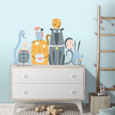 Μικρά ζωάκια, Παιδικά, Αυτοκόλλητα τοίχου