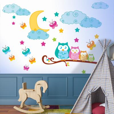 Κουκουβάγια σε κλαδί, Παιδικά, Αυτοκόλλητα τοίχου