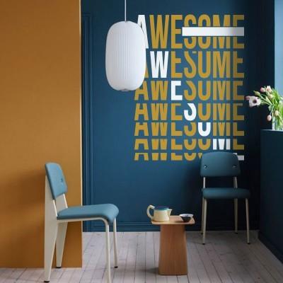 Awesome, Φράσεις, Αυτοκόλλητα τοίχου