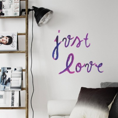 Just Love, Φράσεις, Αυτοκόλλητα τοίχου