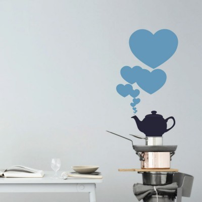 Τσαγιέρα καρδιές, Διάφορα, Αυτοκόλλητα τοίχου