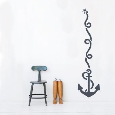 Άγκυρα με σχοινί, Ναυτικά, Αυτοκόλλητα τοίχου