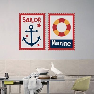 Sailor Marine, Ναυτικά, Αυτοκόλλητα τοίχου