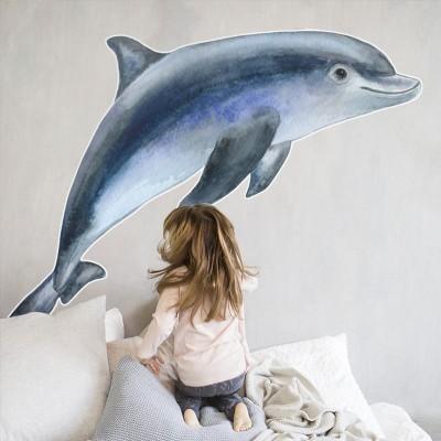 Χαριτωμένο δελφίνι, Ζώα, Αυτοκόλλητα τοίχου