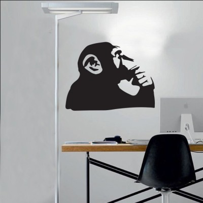 Thinking monkey, Banksy, Αυτοκόλλητα τοίχου