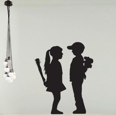 Boy meets girl, Banksy, Αυτοκόλλητα τοίχου