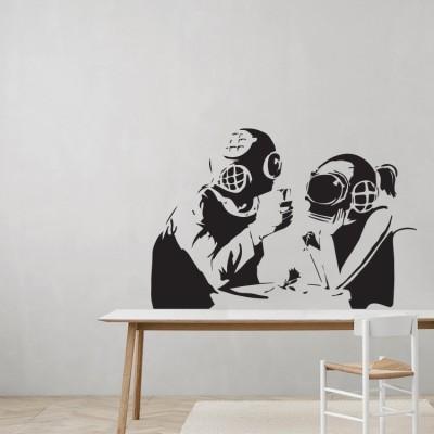 Diver coulpe, Banksy, Αυτοκόλλητα τοίχου
