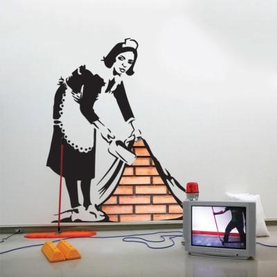 The sweeper, Banksy, Αυτοκόλλητα τοίχου